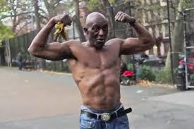 muscular old man