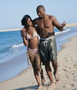 black-couple-on-the-beach 1